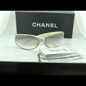 White Chanel glasses authentic